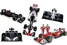 Formel 1 - Mercedes bis Haas: Das sind die neuen F1-Boliden