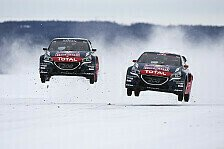 Mehr Rallyes - Video: Loeb: Irre Rallycross-Show auf zugefrorenem See