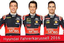 WRC - Wer ist im Werksteam? Hyundai-Fahrerkarussell 2016