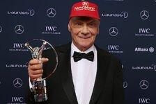 Formel 1 - Niki Lauda mit Laureus für Lebenswerk geehrt