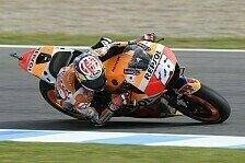 Dani Pedrosa dominiert auch 2. Training in Jerez, Maverick Vinales stürzt