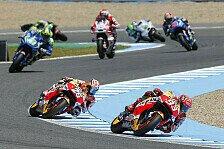 MotoGP - Jerez-Test: Erneut Reifenschaden, Marquez vorn