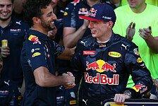 Formel 1 - Ricciardo: Verstappen ist tickende Zeitbombe