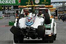 Formel 1 - 1. Training: Massa-Crash & Hamilton-Bestzeit