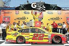 NASCAR - Logano gelingt der erste Saisonsieg in Michigan