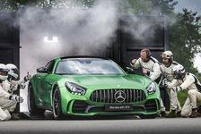 Auto - Weltpremiere des Mercedes-AMG GT R mit Hamilton