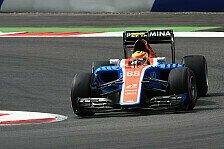 Formel 1 - Budget komplett: Haryanto bis Saisonende bei Manor
