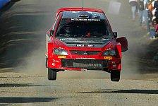 WRC - Mitsubishi: Glücklich über doppelte Zielankunft