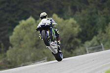 MotoGP - Husarenritt: Rossi sprengt Ducati-Duo in Reihe 1