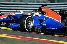Formel 1 - Manor-Debüt für Ocon, Wehrlein Elfter in Spa