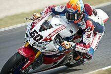 Superbike - Van Der Mark trägt schrottreife Honda ins Ziel