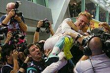 Singapur GP: Mercedes-Pilot Nico Rosberg reißt WM-Ruder rum, Lewis Hamilton baff
