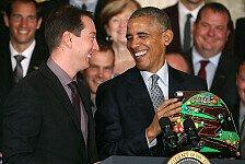 NASCAR - Bilder: Kyle Busch besucht Präsident Obama