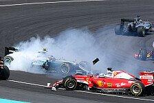 Vettel nach Start-Crash mit Rosberg uneinsichtig: Strafe hart