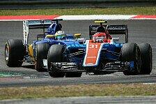 Manors Pascal Wehrlein und Esteban Ocon mit Mini-Update in Suzuka gegen Sauber