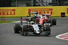 Beim Japan GP der Formel 1 duellierten sich Force India und Williams erneut