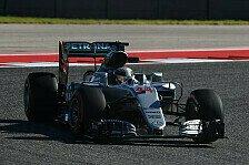 1. Training in Austin: Lewis Hamilton knapp vor Nico Rosberg