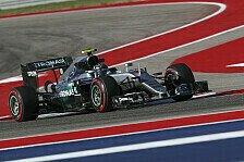 Formel 1 - 2. Training: Ricciardo jagt Rosberg in Austin