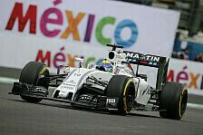 Im Training zum Mexiko GP bestätigte Williams den Ruf als Topspeed-Könige