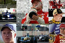 Ferrari-Pilot Kimi Räikkönen startet beim Brasilien GP sein 250. Formel-1-Rennen