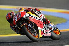Marquez im Valencia-Warm-Up Schnellster, Rossi und Lorenzo mit Rückstand