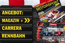 Abo-Angebot: Motorsport-Magazin lesen und mit der F1 Carrera-Bahn spielen