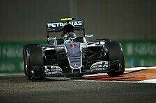 Formel-1-Finale in Abu Dhabi: Lewis Hamilton im Training knapp vor Nico Rosberg