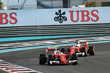 Ferrari-Strategie in Abu Dhabi: Sebastian Vettel hui, Kimi Räikkönen pfui