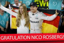 Formel 1 - Video: Rosberg hat es geschafft: Formel-1-Champion 2016
