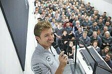 Formel 1 - Bilder: Rosberg feiert WM-Titel in Mercedes-Fabrik