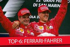 Formel 1 - Top-6: Die erfolgreichsten Ferrari-Fahrer