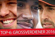 Top-6: Großverdiener der Formel 1