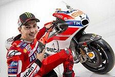 Lorenzos emotionaler Einstand in die MotoGP Ducati-Familie