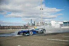 Formel E - Video: New York: NFL-Star Victor Cruz im Formel-E-Auto