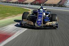 Kein Risiko: Backup-Reifen bei Barcelona-Tests