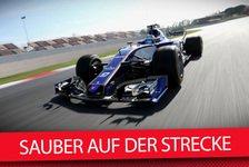 Mit Video: Sauber als erstes Team auf der Strecke