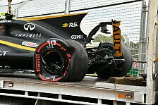 Formel 1 - Renault-Crash, Max-Ausritt: Action in Australien
