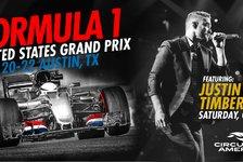 Formel 1 USA 2017: Zeitplan wegen Justin Timberlake verschoben