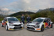 WRC - Baumschlager in Ogiers Weltmeister Auto