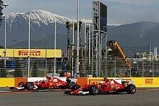 Rote Qualifying-Gala in Russland: Ferrari Mercedes jetzt überall voraus?