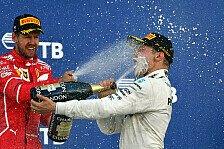 Bottas besser als Rosberg: Topspeeds, Boxenstopps und Top-Facts beim Russland GP