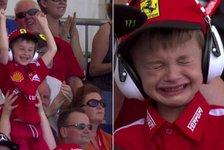 Spanien GP: Weinender Ferrari-Junge geht um die Welt