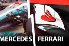 Mercedes vs. Ferrari: Barcelona Update-Vergleich