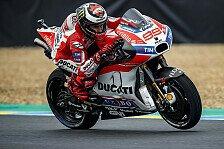 Lorenzo im Qualifying von Le Mans unter Ferner Liefen