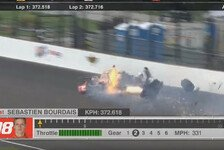 IndyCar - Video: Schwerer Crash von Bourdais in Indianapolis