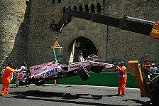 Baku: Perez fordert Strecken-Änderung nach Unfall