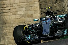3. Training in Baku: Bottas vorne, Vettel mit Problemen