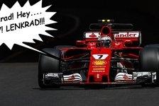 Ey, Lenkrad! Bewegung! Ferrari-Pilot Kimi Räikkönen eskaliert in Baku