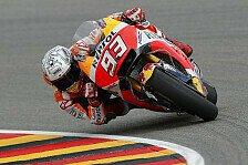 FP3 am Sachsenring: Rossi erneut mit Technikproblemen, Marquez voran