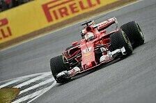 Nur P3 in Silverstone: Sebastian Vettel beschwert sich per Funk über Ferrari